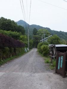 アルベルゲ山帰来への入り口