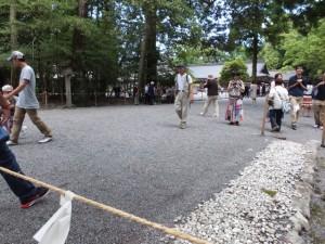 奉幣の儀が始まる前の別宮遥拝所付近(外宮)