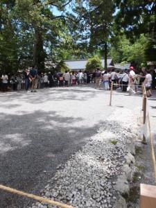 奉幣の儀が始まる前、別宮遥拝所付近から望む大庭方向(外宮)