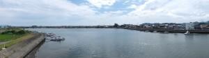 国道23号 勢田川橋から望む勢田川の下流側