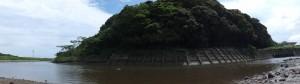 鏡宮神社の虎石付近から望む朝熊神社