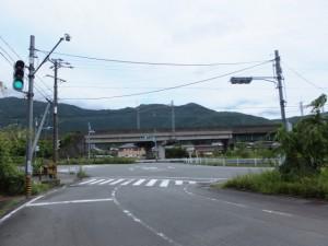 相生神社付近の交差点(伊勢市朝熊町)