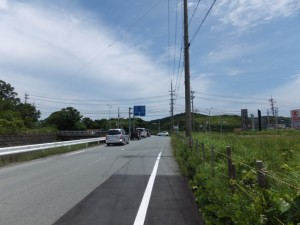 県道37号と国道42号の合流点(鳥羽市堅神町)