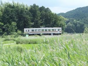 国道42号から望むJR参宮線