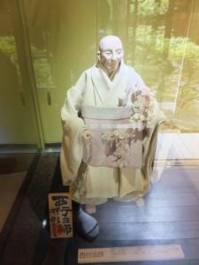 和紙人形作家 阿部夫美子さんによる「西行法師」(賓日館)