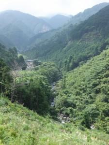 八鬼山「石畳道」案内板付近からの眺望