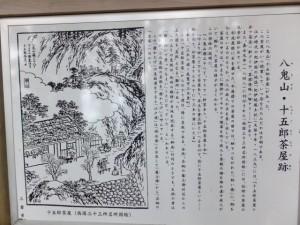 八鬼山・十五郎茶屋跡の説明板
