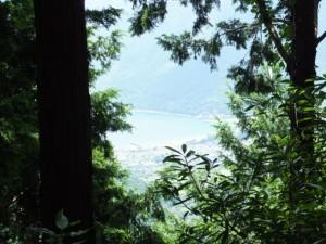 八鬼山・十五郎茶屋跡付近からの眺望