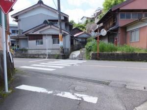 国道311号との交差点(熊野古道)
