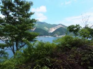 ヨコネ道から望む賀田湾