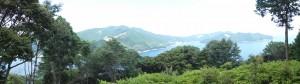 三木崎峠展望所(三木峠付近)からのパノラマ