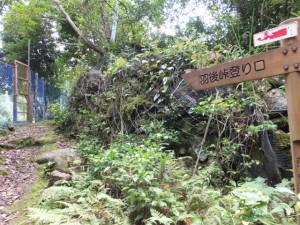 「羽後峠への登り口」の道標