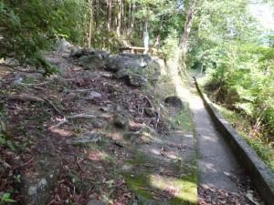 「伊勢路08 羽後峠 09/09 」道標付近から側溝の道へ