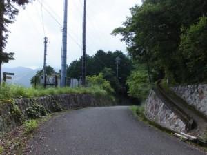 「羽後峠 熊野古道」の道標付近
