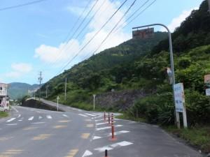 JR賀田駅への分岐付近