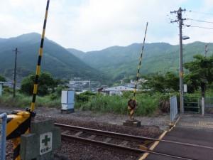 JR紀勢本線 賀田駅のホームからの風景