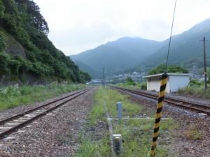 JR紀勢本線 賀田駅のホームからの風景(上り方向)
