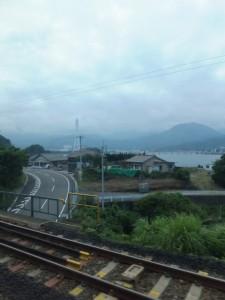 JR紀勢本線 大曽根浦駅の手前の風景