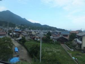 JR紀勢本線 尾鷲駅付近からの風景