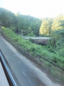 神瀬橋(通称、眼鏡橋)、(栃原から下楠までの途中)