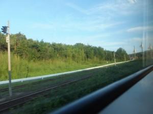 JR紀勢本線の車窓から望むJR参宮線の線路
