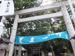 例大祭、夏祭りの準備(上社)