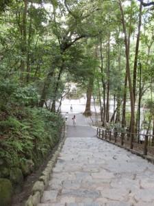 多賀宮への、からの石階(外宮)
