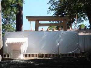 御正宮の新御敷地、板垣南御門前の番舎(内宮)