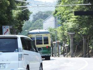 路面電車「神都線」風の「神都バス」(宇治浦田町交差点~神宮会館)