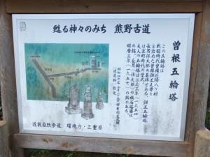 曽根五輪塔の説明板