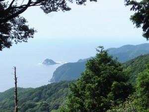 楯見ヶ丘(曽根次郎坂太郎坂)から望む笹野島