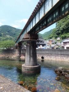 逢川とJR紀勢本線の鉄橋
