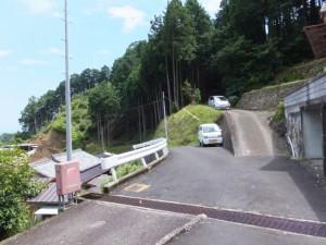 波田須の道の説明板付近