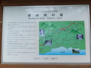 波田須の道の説明板