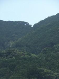 大吹峠の遠望(ズーム)