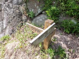 「文字岩 [7] 熊野古道大吹峠」の道標