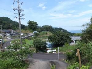 「[9] 熊野古道大吹峠」の道標付近から振り向いて