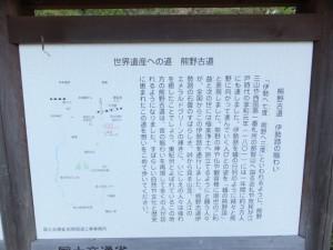 「熊野古道 伊勢路の賑わい」の説明板
