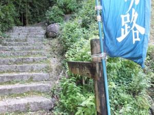 松本峠 大泊登り口
