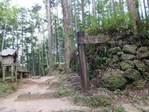 「鬼ヶ城 城跡」の道標