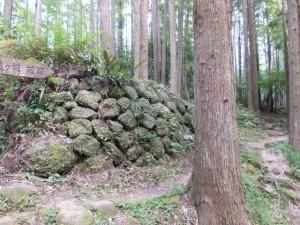 松本峠から「鬼ヶ城 城跡」方向