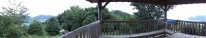 松本峠から鬼ヶ城 城跡へ向かう途中の東屋でのパノラマ