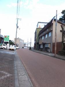 七里御浜からJR熊野市駅へ向かう途中で振り向いて