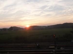 車窓から望むJR多気駅付近