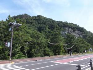 国道42号 花の窟神社交差点付近
