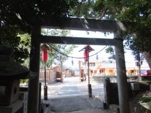 花の窟神社から望むお綱茶屋