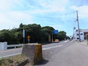 志原橋から国道42号への合流