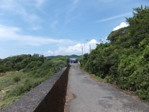 七里御浜の防波堤(国道42号 新緑橋北交差点付近)