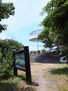 七里御浜探勝歩道から黒潮橋(歩道橋)へ