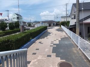 黒潮橋(歩道橋)から望むJR紀勢本線 阿田和駅